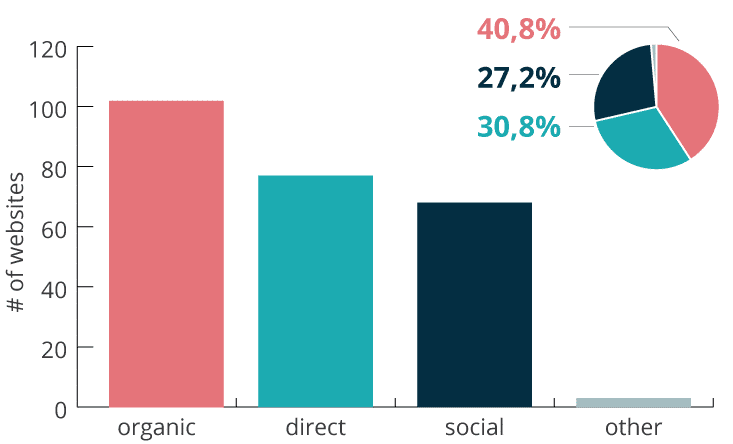 Main traffic source by website age