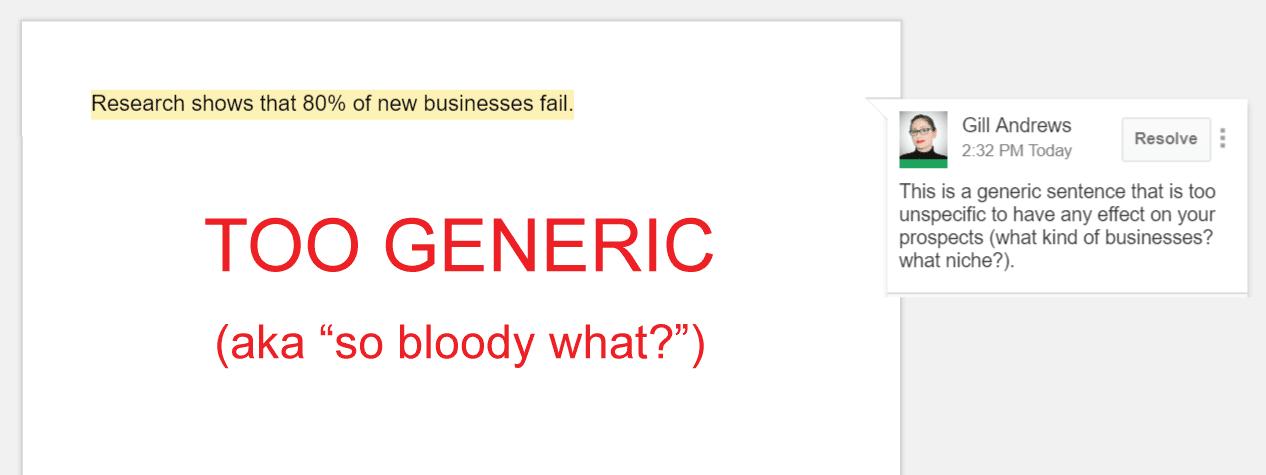 Copywriting mistake 7: Generic copy