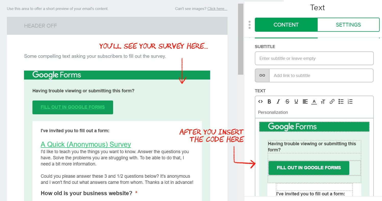 How to Embed a Survey in an Email Newsletter (Using Google