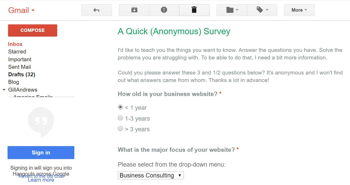 How to Embed a Survey in an Email Newsletter (Using Google Forms ...