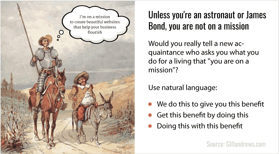 Unless you're an astronaut or James Bond, you aren't on a mission