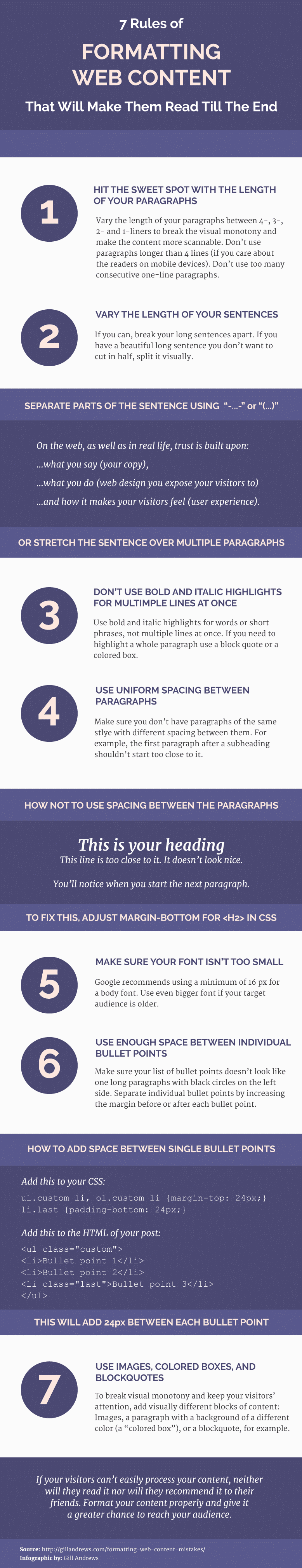 7 Rules of Formatting Web Content That Will Make Them Read Till The End