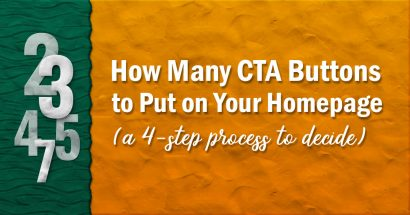 How many call to action buttons to put on your homepage