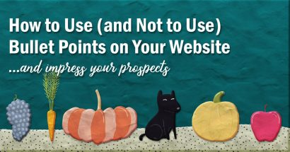 How to use bullet points on your website and impress your prospects