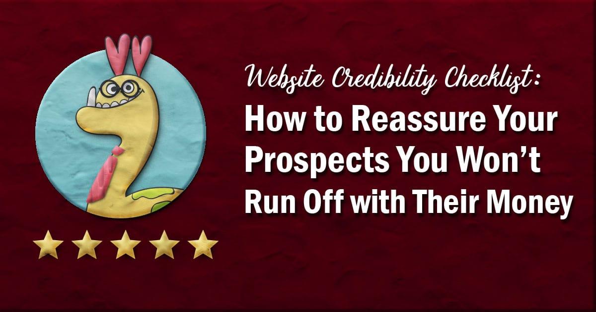Website credibility checklist