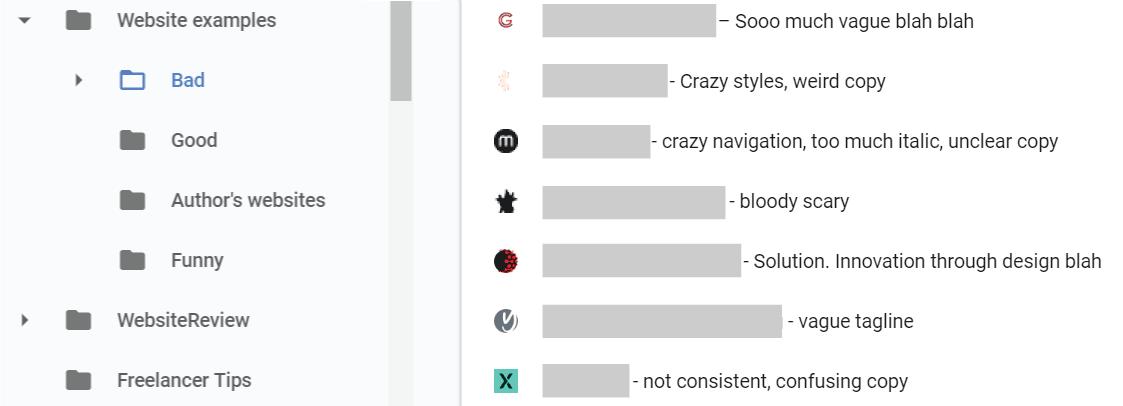 Chrome bookmarks, bad websites