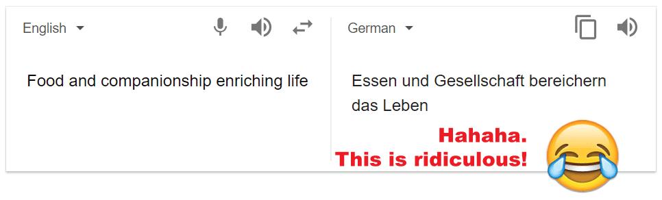 Google translate test