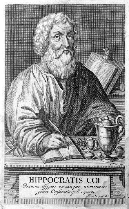 Portrait of Hippocrates of Kos