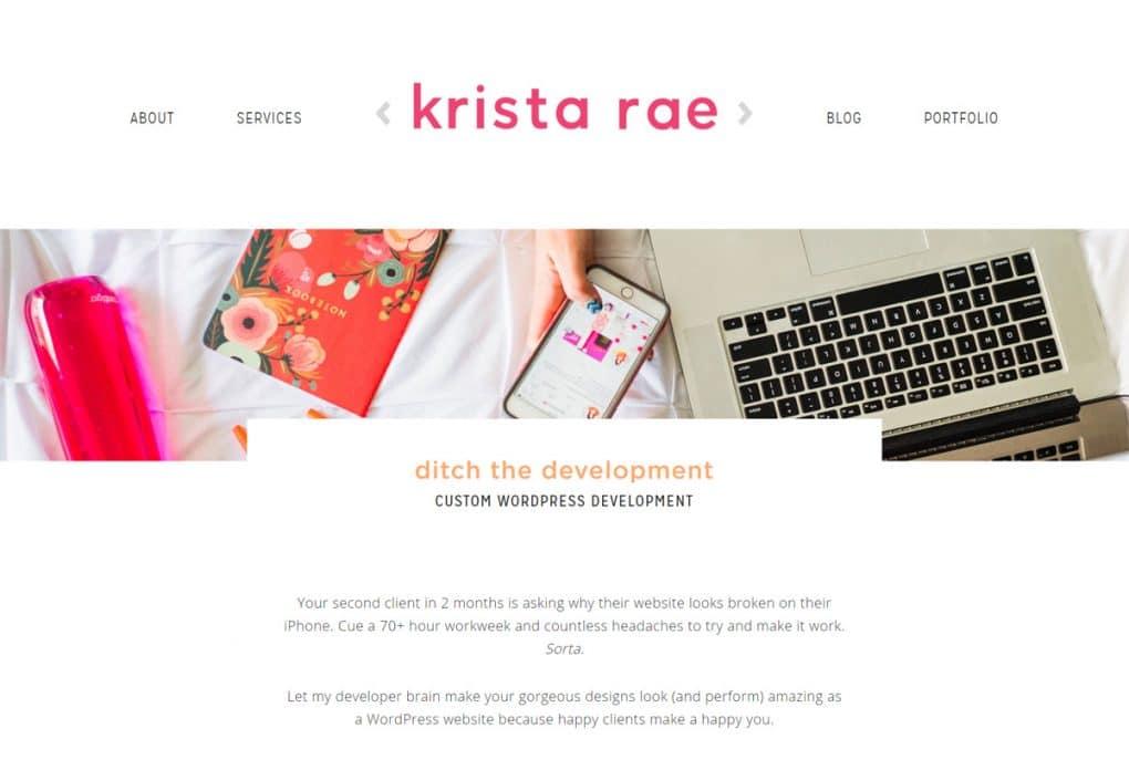 Service page example: WordPress development