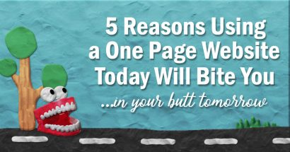 5 reasons a one page website is a bad idea