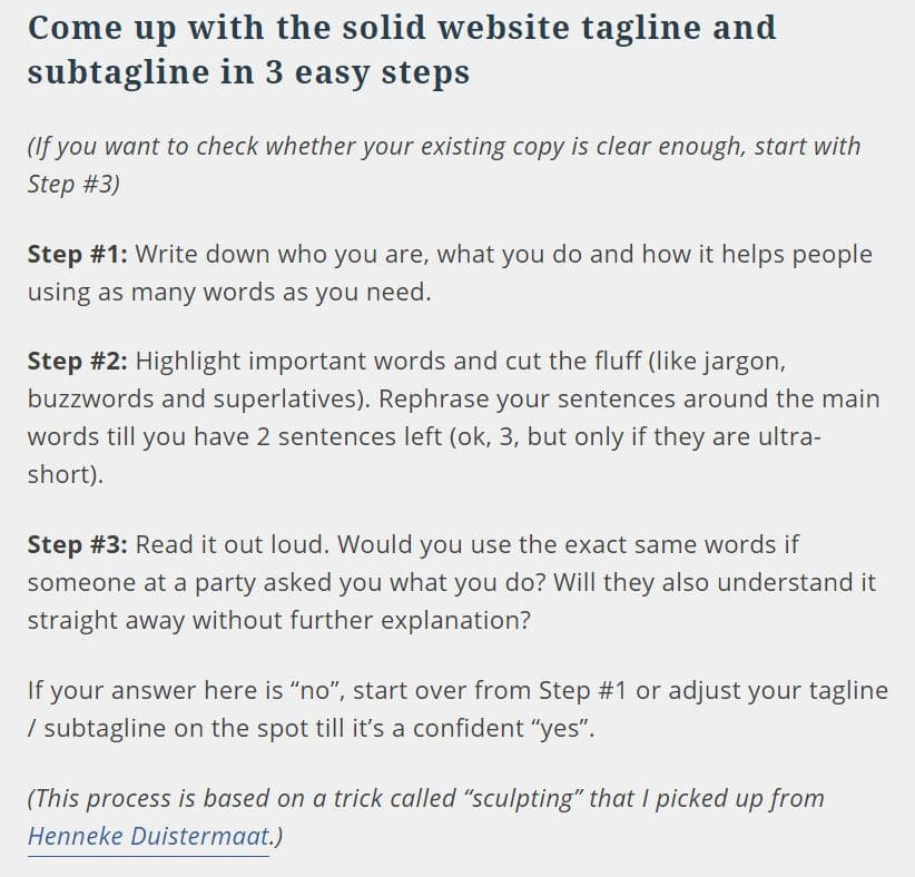 How to come up with a website tagline in 3 easy steps