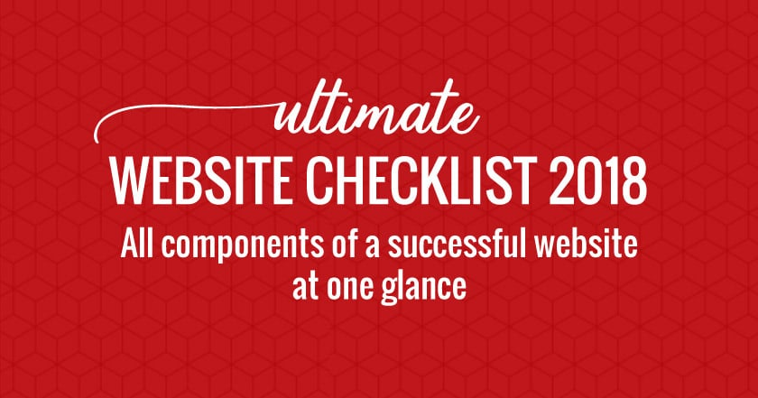 Website Checklist 2018 [+ Free PDF]