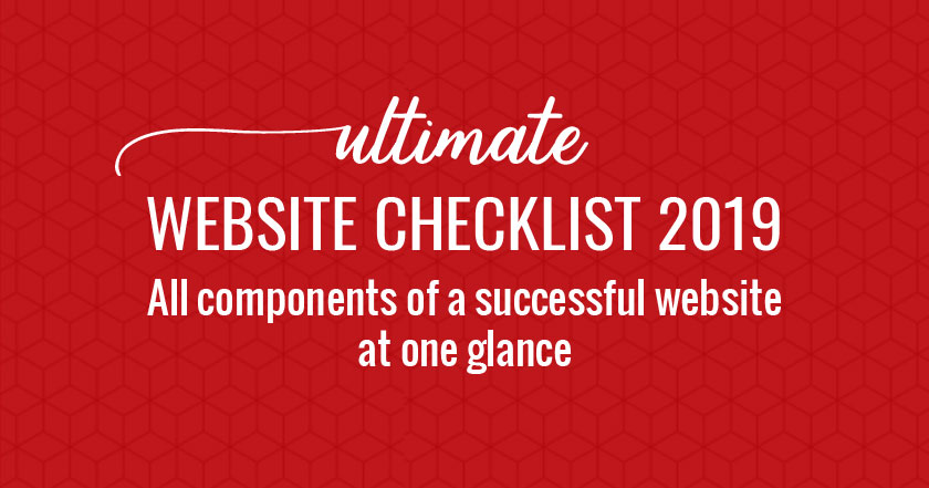 Website Checklist PDF 2019