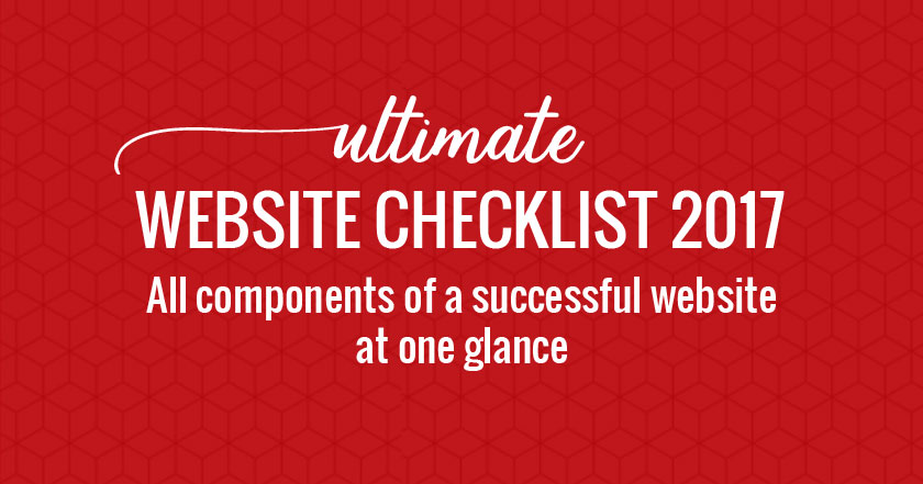 Ultimate website checklist