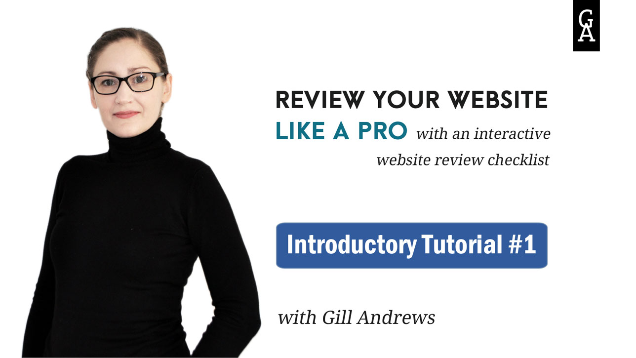 Website review checklist: Introductory tutorial 1