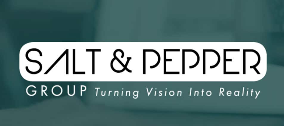 Website tagline example 4: Salt & Pepper Group. Turning vision into reality