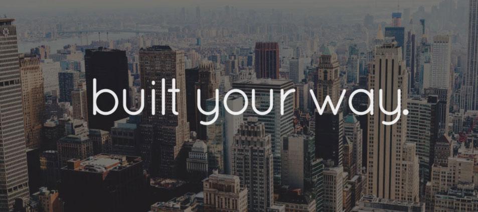 Website tagline example 8: Built your way