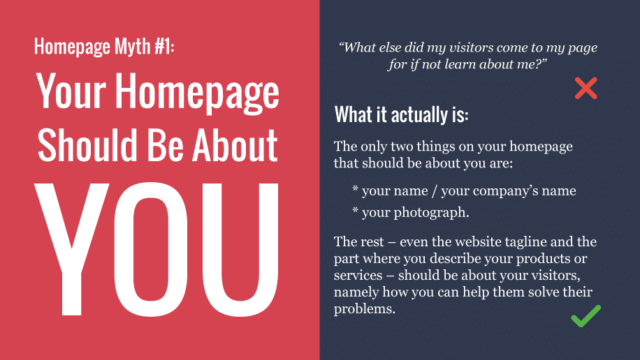 Your homepage myth #1