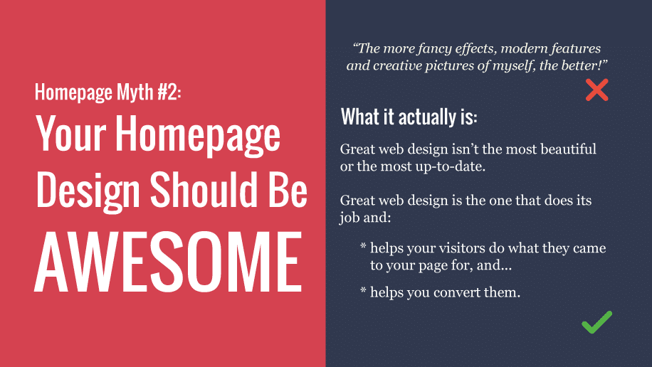 Your homepage myth #2