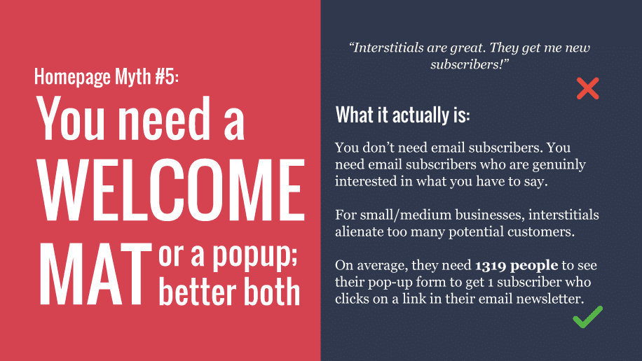 Your homepage myth #5